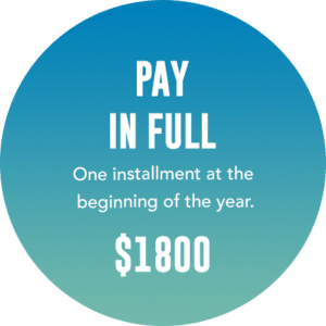 Pay in full $1800